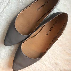 Lucky Brand Gray Flats